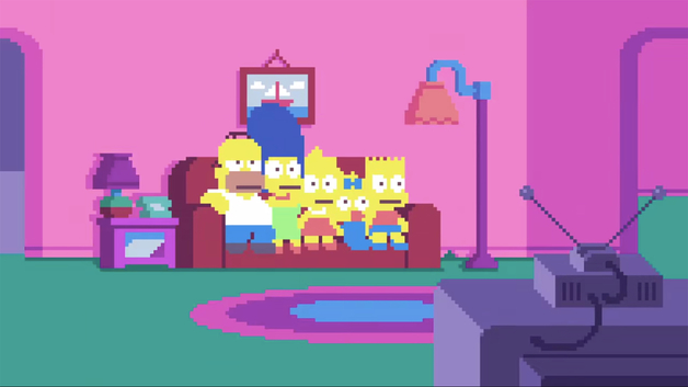 8-bitowe The Simpsons pikseloza
