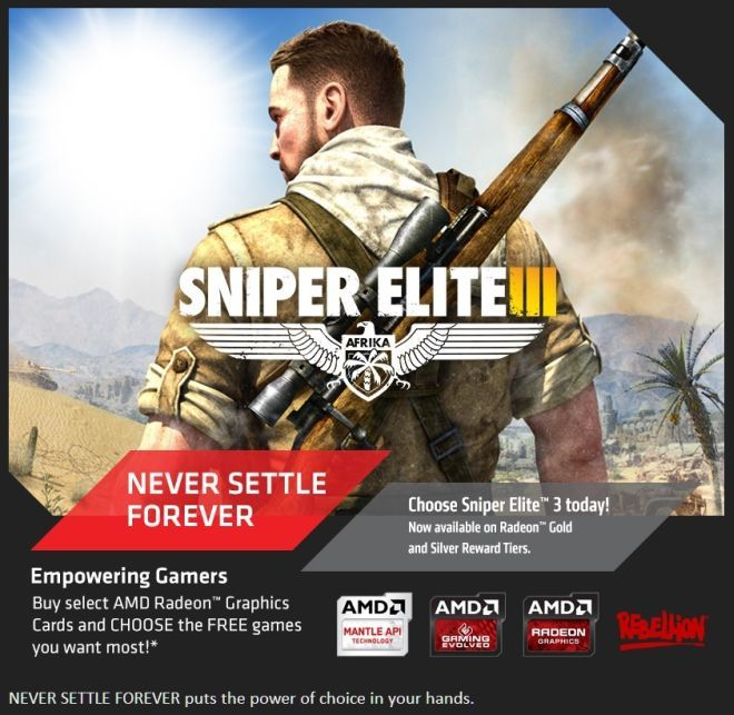 AMD Never Settle Forewer - Sniper Elite III