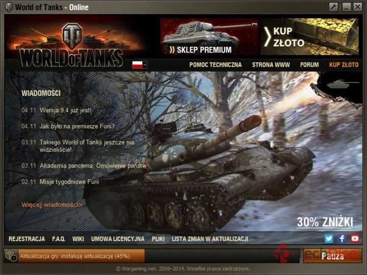 Aktualizacja 9.4 do World of Tanks - launcher