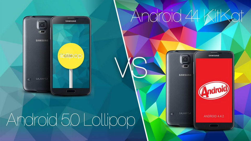 Android lollipop vs KitKat