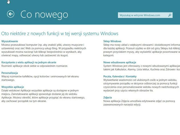 Co nowego Windows 8.1