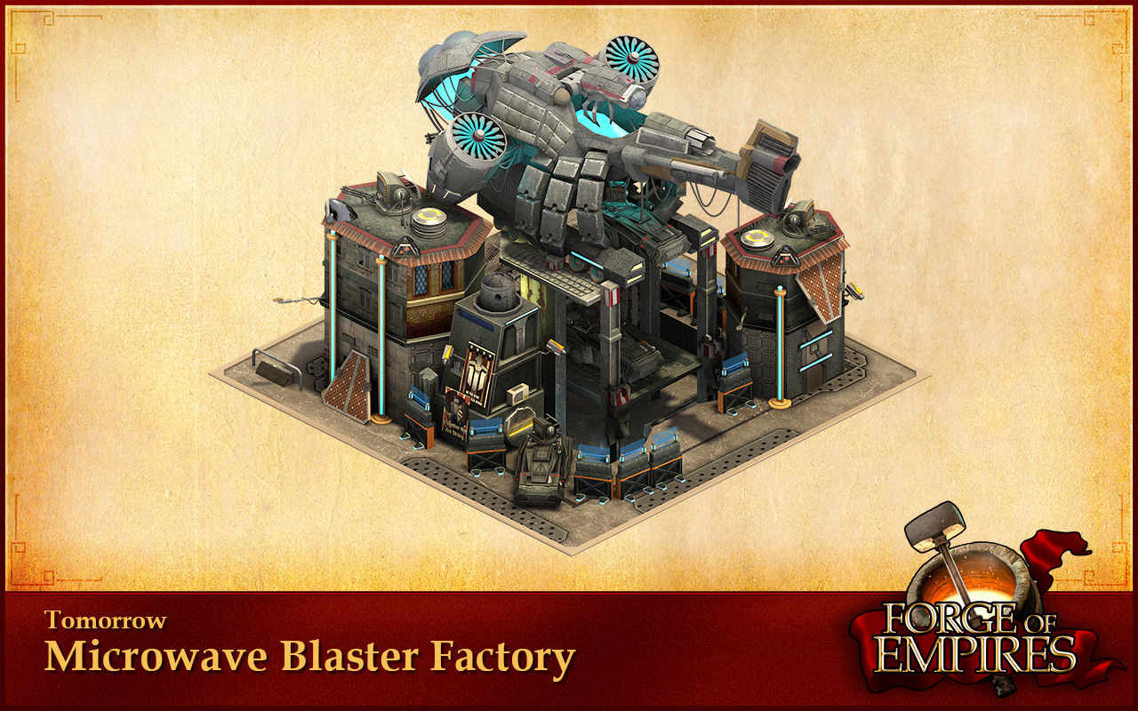 Epoka jutra Forge of Empires Microwave Blaster Factory