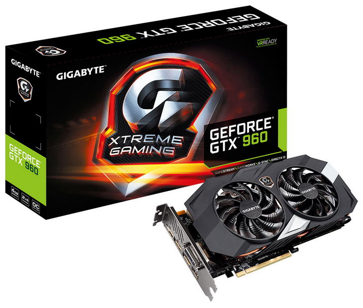 GIGABYTE GeForce GTX 960 4GB Xtreme