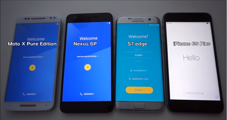 Galaxy S7 edge, iPhone 6s Plus, Nexus 6P i Moto X Pure Edition