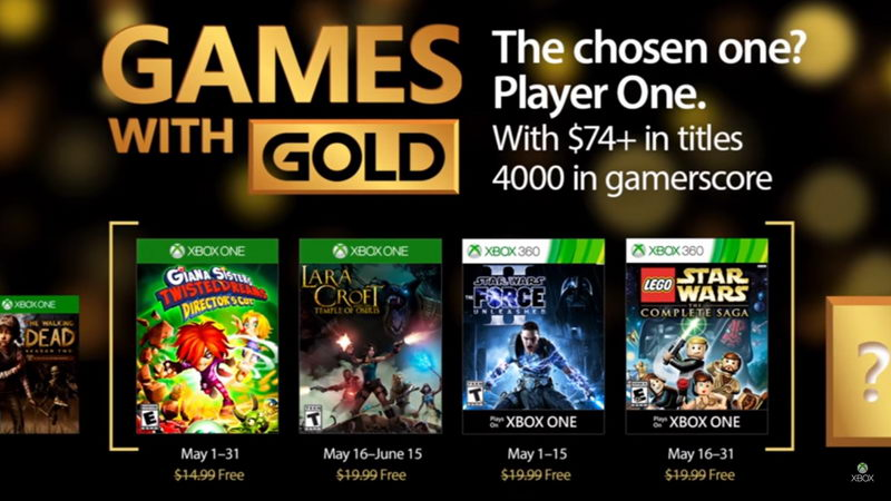Games With Gold Maj 2017