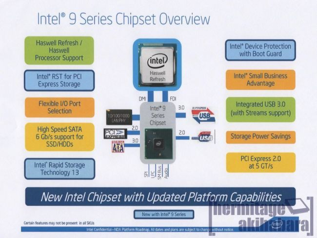 Intel Haswell Refresh 9 series chipset - new slide 01