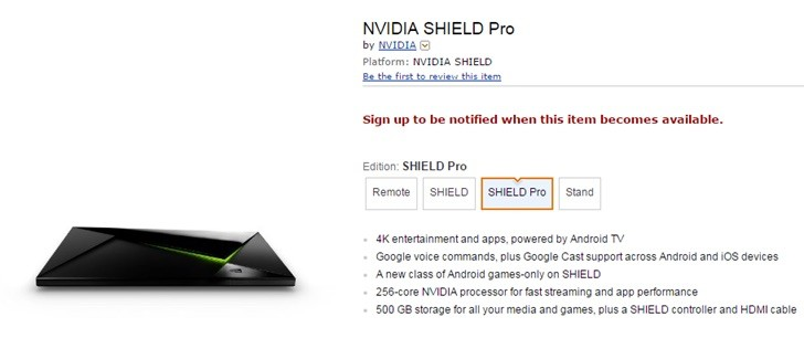 NVIDIA Shield Pro amazon