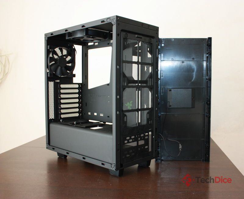 NZXT S340 Source Razer Edition bok otwarty 1