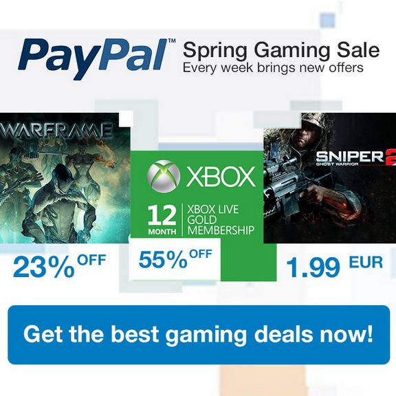PayPal Gaming Sale