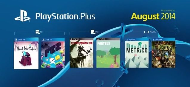 PlayStation Plus sierpien 2014