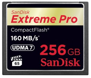 Sandisk Extreme Pro 256GB CompactFlash