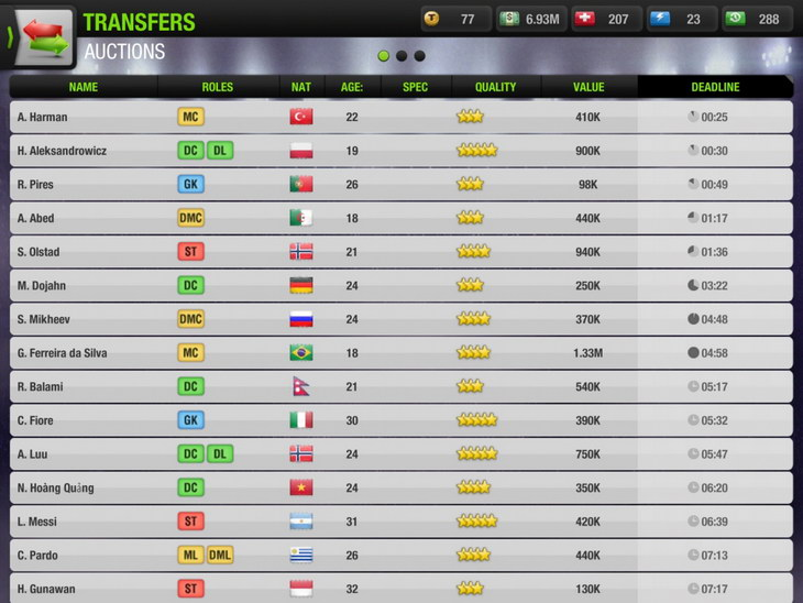 Top Eleven transfers