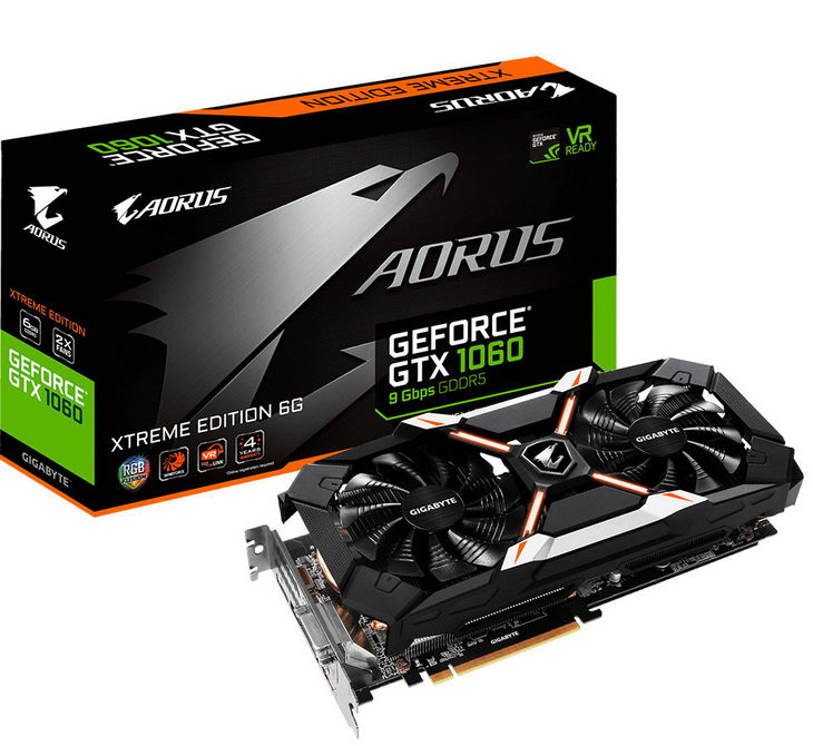 Aorus GeForce GTX 1060 6 GB Xtreme Edition