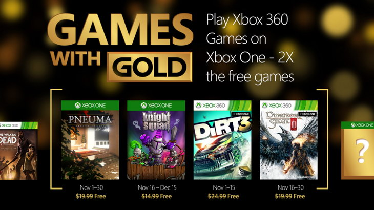 Games With Gold listopad 2015