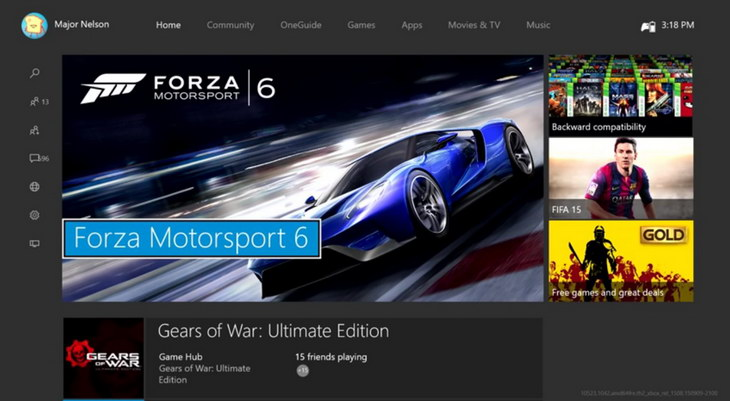 Nowy Dashboard Xbox One