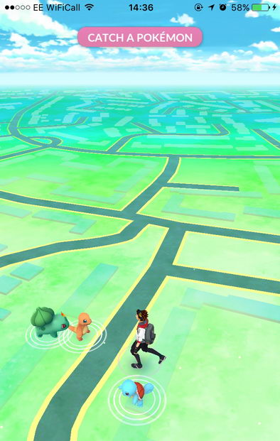Pokemon Go start