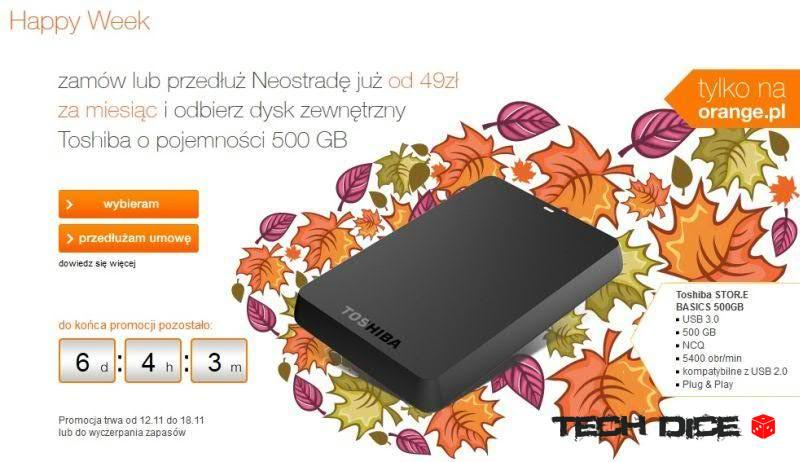 Happy Week w Orange - Dysk Toshiba 500 GB_01