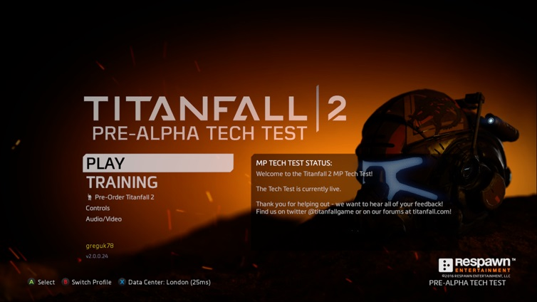 Titanfall 2 Multiplayer technical test