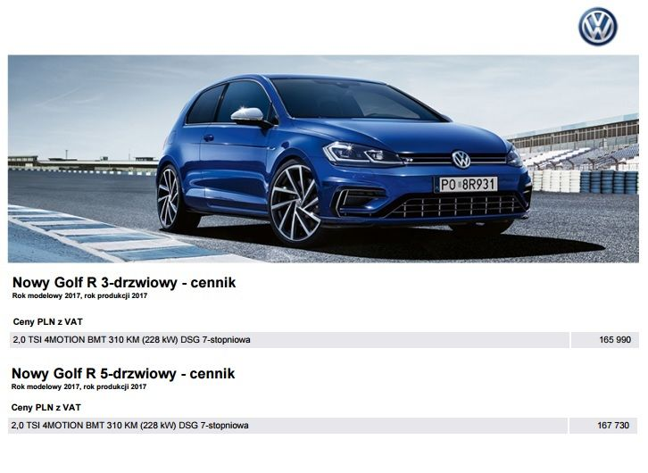 VW Golf 2017 ceny 05