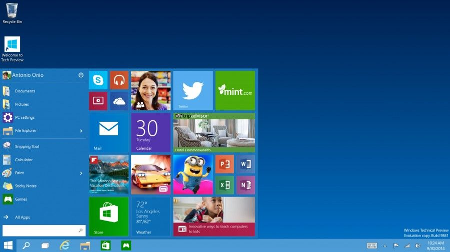 Windows 10 tech Preview