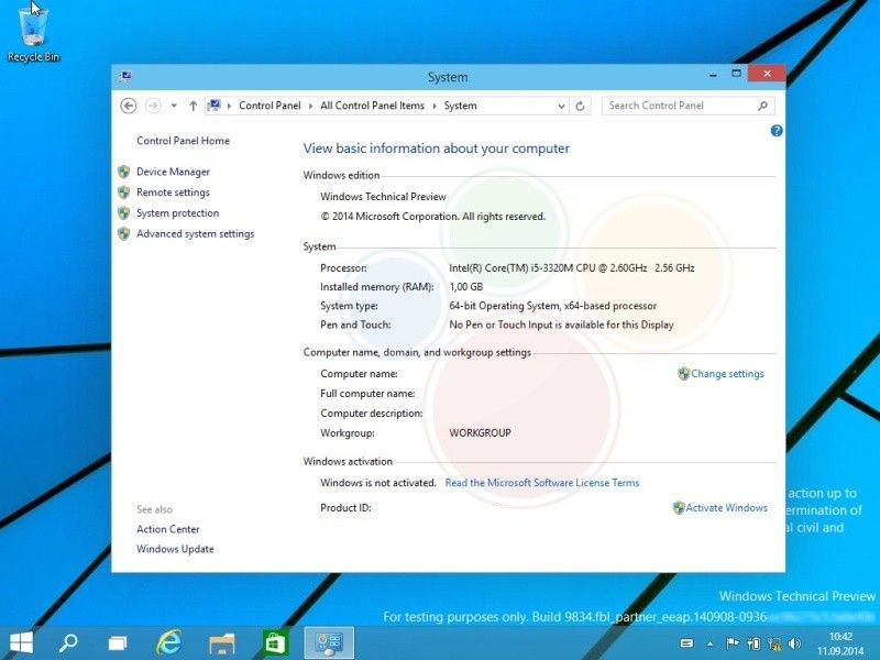 Windows 9 preview 02