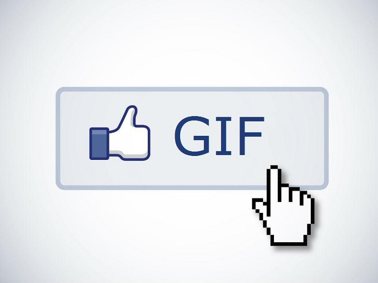 facebook gif button for comments